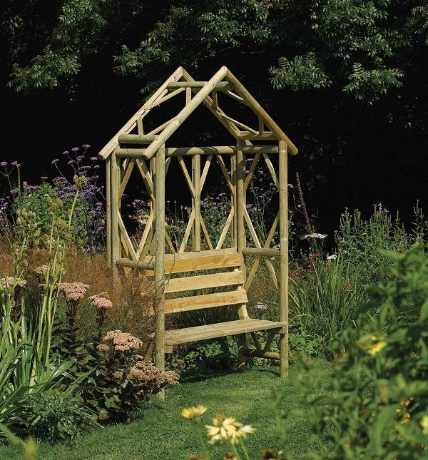 Rowlinson Rustic Seat, £169, Heritage Gardens