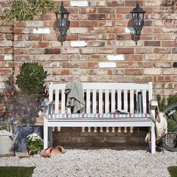 Salcombe Wooden Painted Bench, £157, B&Q [2]