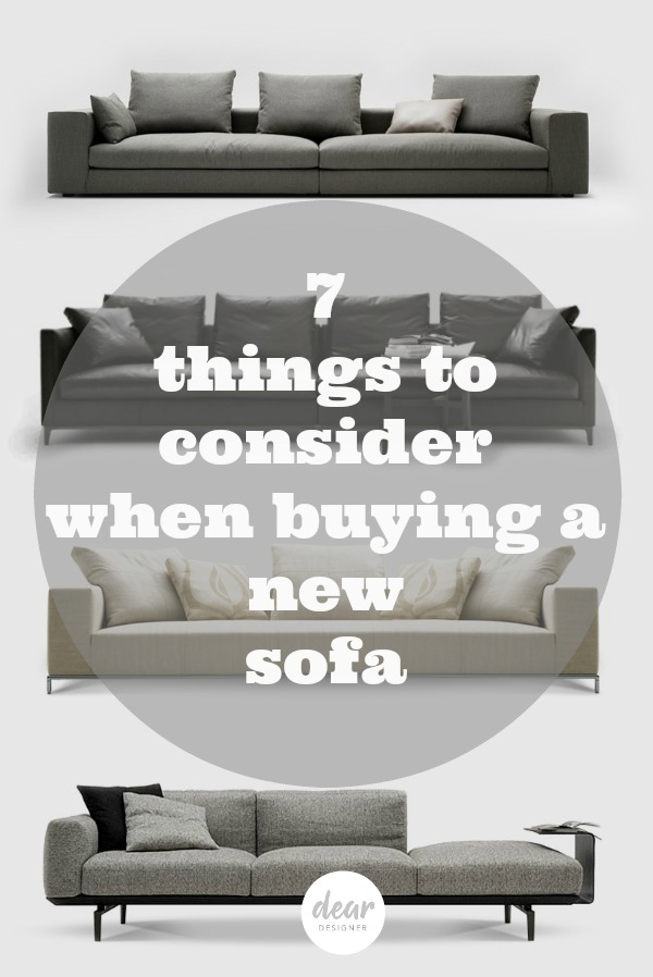 7 things to consider when buying a new sofa
