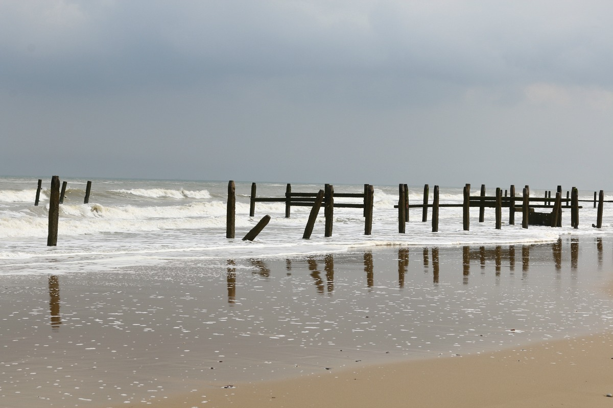 beach,norfolk,england