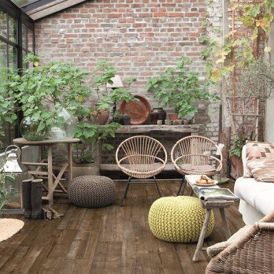 conservatory,vinyl flooring,brick wall