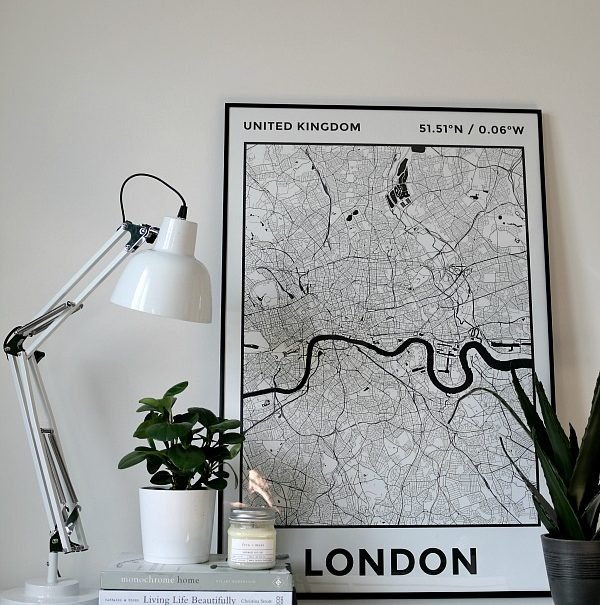 personalised map prints - London - East End