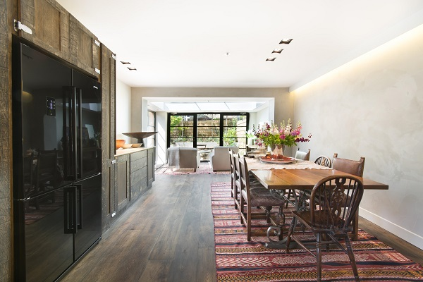 House Tour - London - Open Plan kitchen, dining space with raw wood