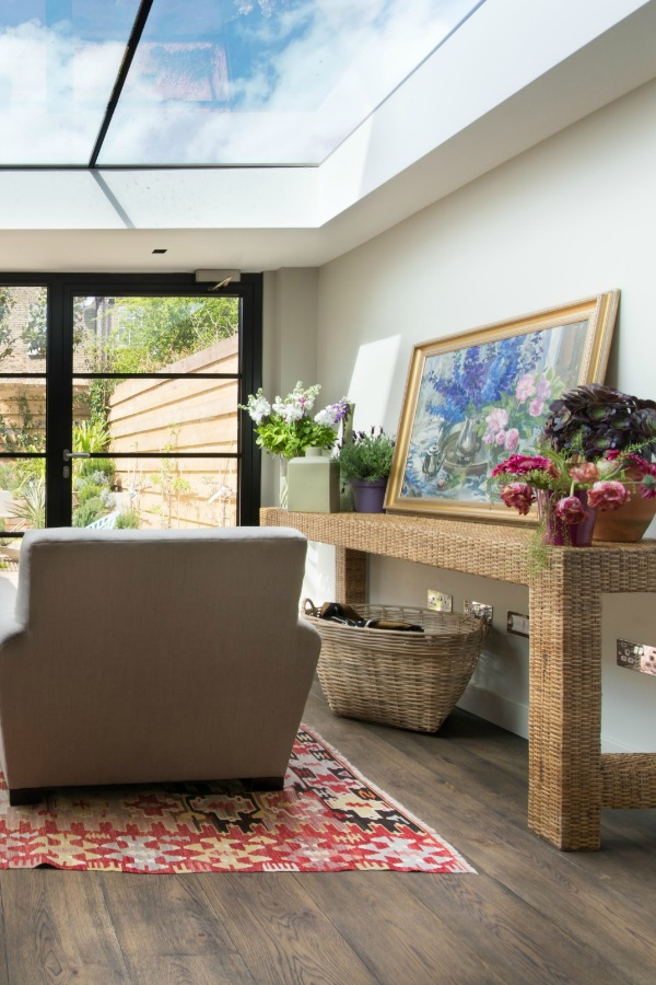 House Tour - London - Family Room with Crittall Windows and glass ceiling