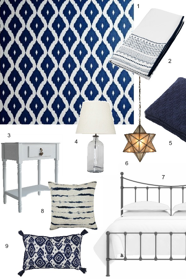 Dear Designer's Blog - Blue and White Scheme for a Guest Bedroom