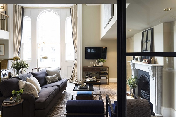 arched windows throw light around this luxury apartment