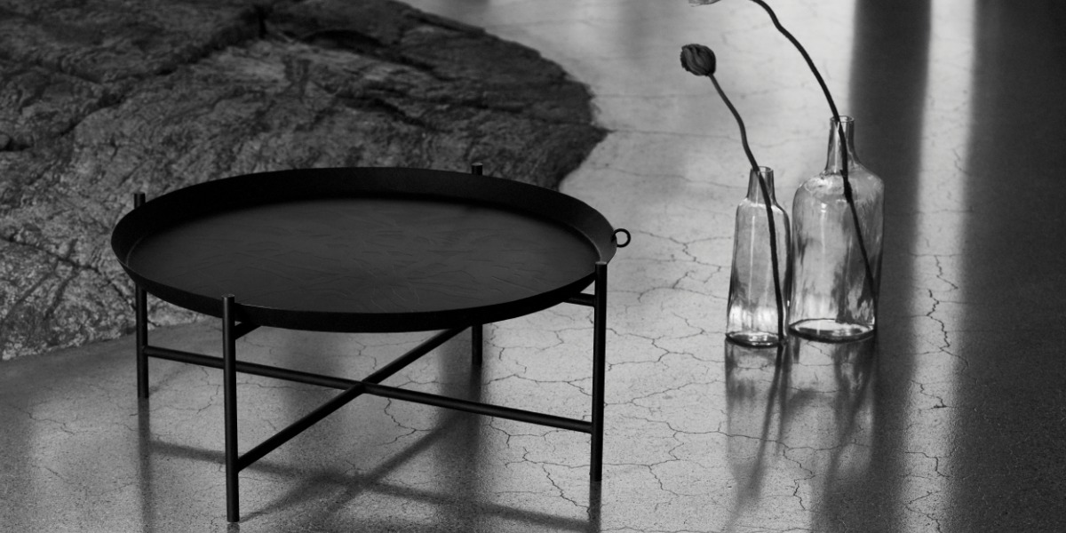 the beauty of monochrome - black coffee table inspired by India