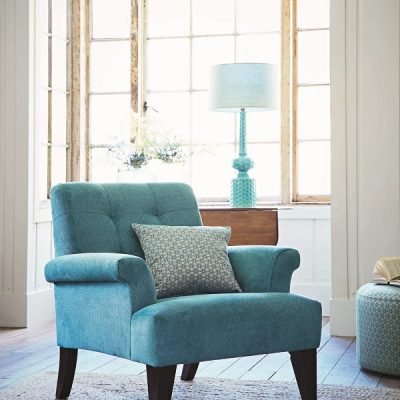Turquoise armchair from theloungeco - a perfect accent colour