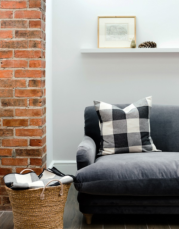 check cushions and throw from the Norfolk Collection