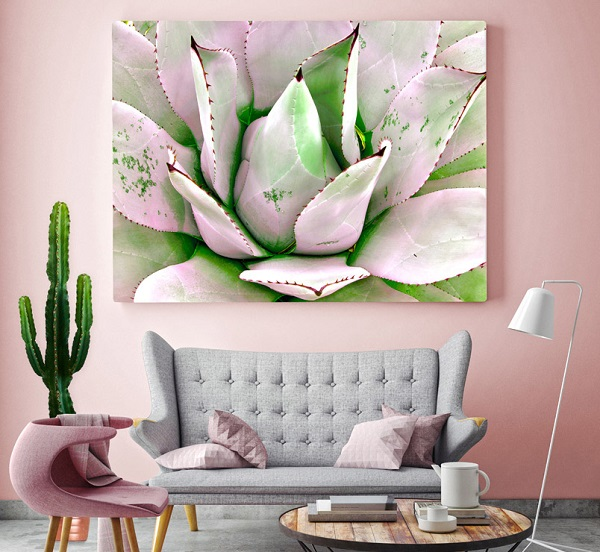 cactus art print - gorgeous with pastels