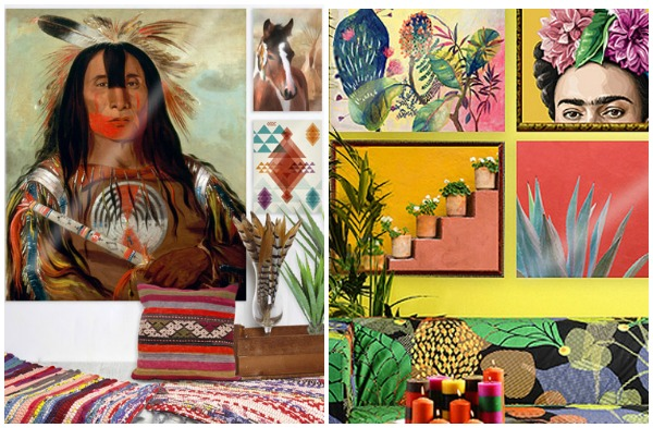 colourful art prints - inspired by Native Americans and Mexico