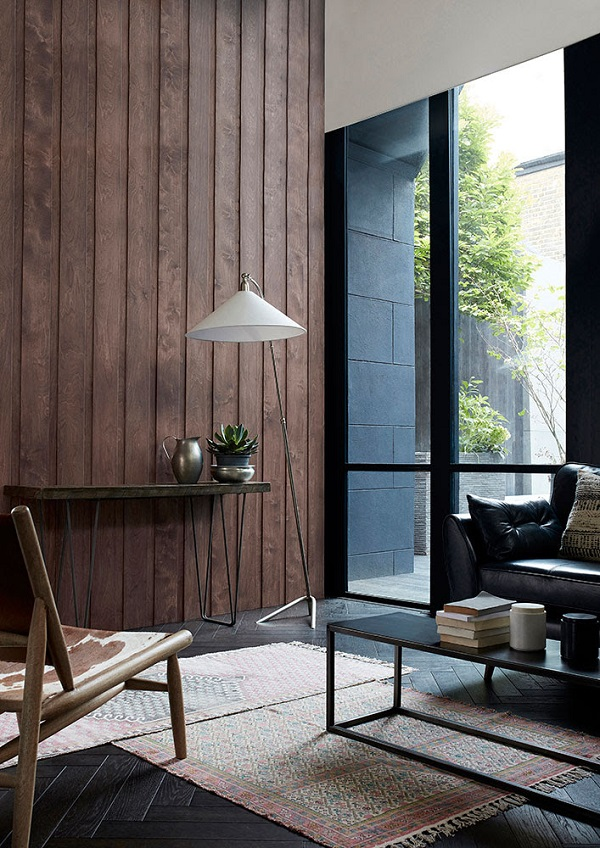 Home Autumn Collection = Ethnic rugs, chunky wood, and aged metal