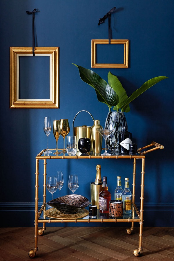 A bar-cart is a good idea now that Autumn is here. Those cosy nights in need refreshments after all.