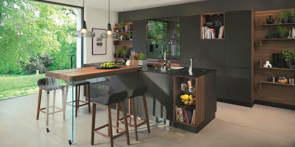 the striking new Black Line kitchen range from Team 7 at Wharfside