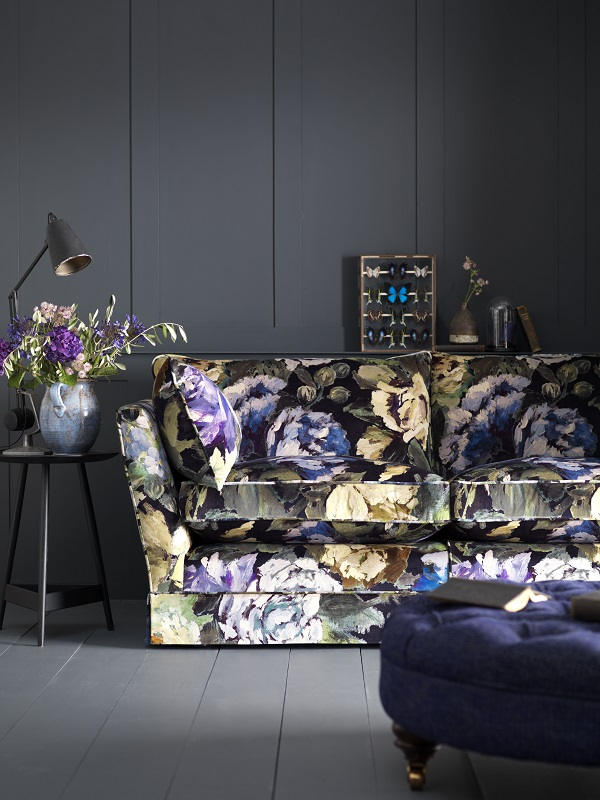 dark floral sofa for winter?