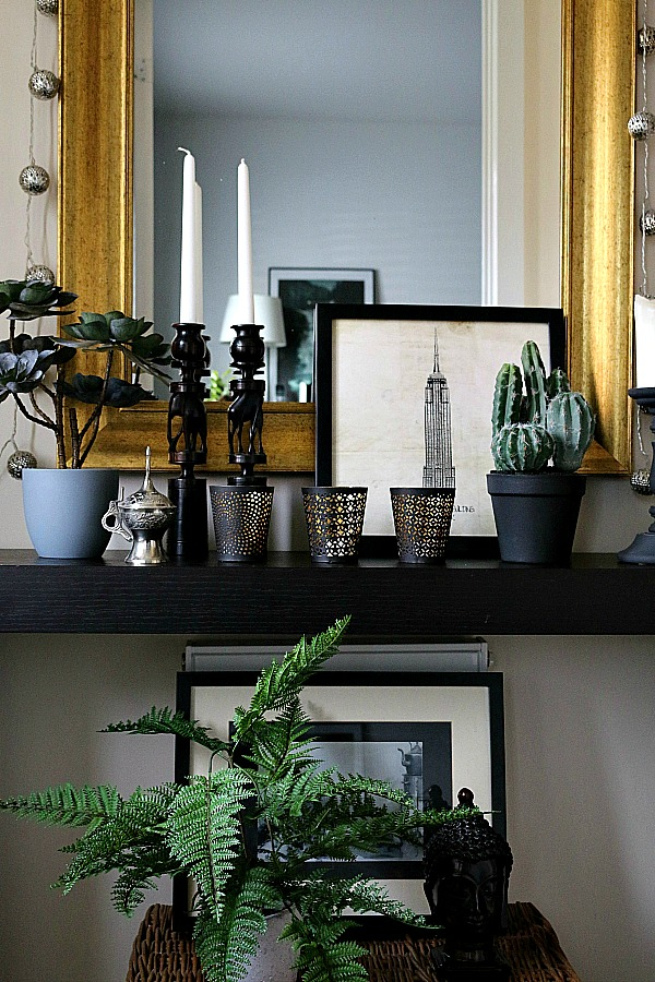 Faux plants in the hallway don't need natural light, watering, pruning or re-potting.