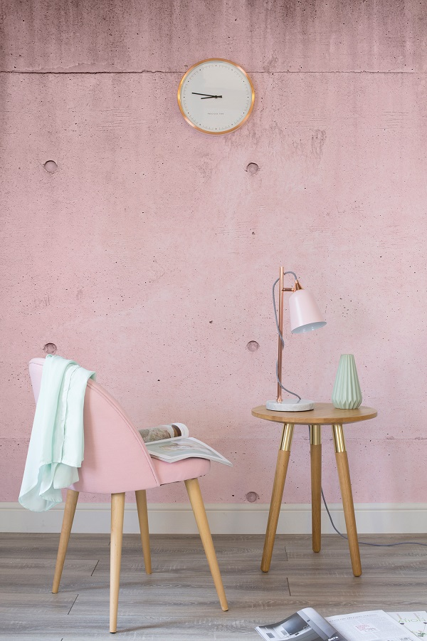 pink rustic concrete wallpaper