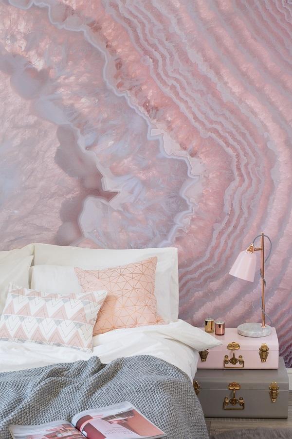 Quartz pink wallpaper