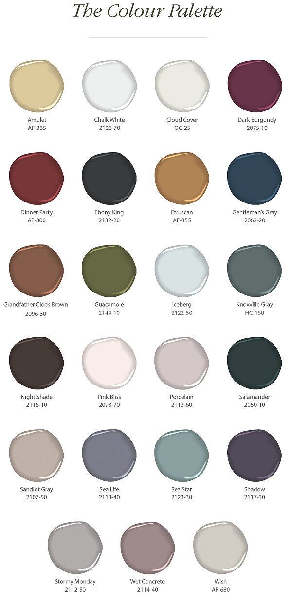 Benjamin Moore Paint Colours 2017