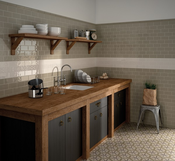 Use tiles to mimic architectural details