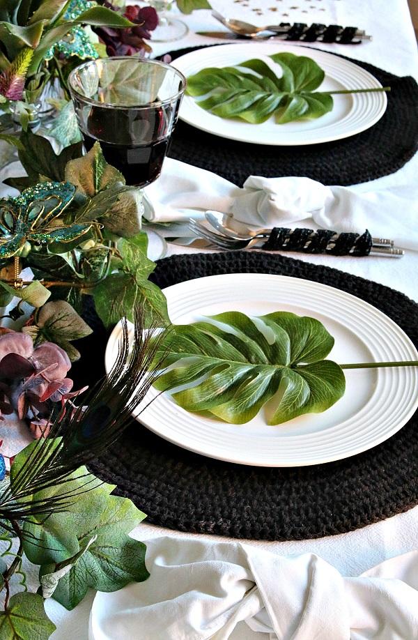 Tropical Inspired Christmas at Dear Designer's #UKHomeBlogHop