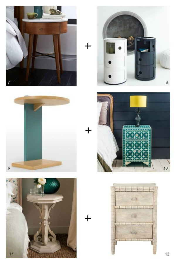 25 Beautiful Bedside Tables and how to pair them up
