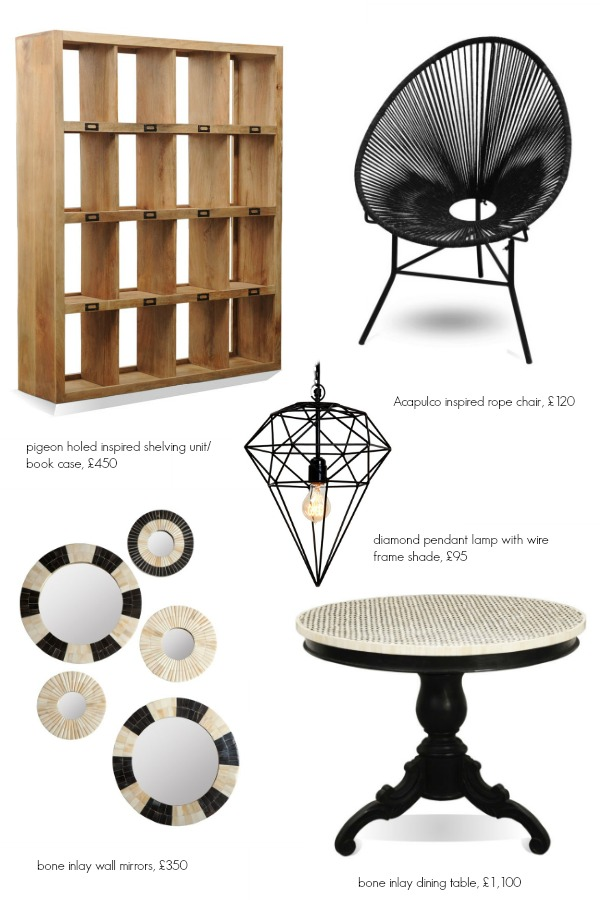 Globally inspired eclectic homewares