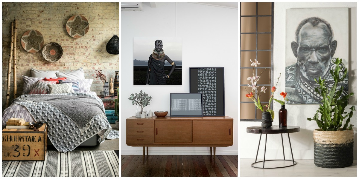 Earthy tones and natural textures