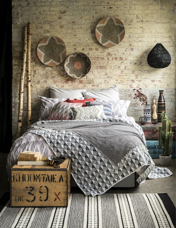 The Tribal Trend - earthy colours, natural textures, geometric patterns