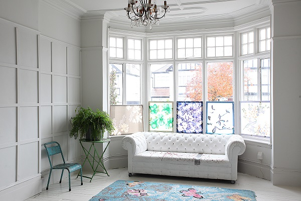 stained glass windows, panelling, white and light