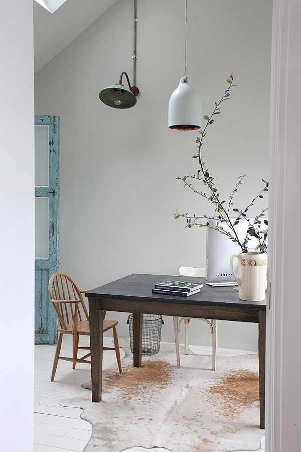 workspace with a mixture of old and new