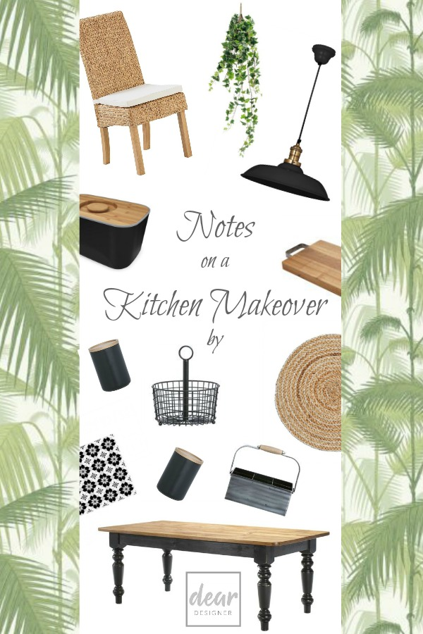 A botanical themed kitchen makeover