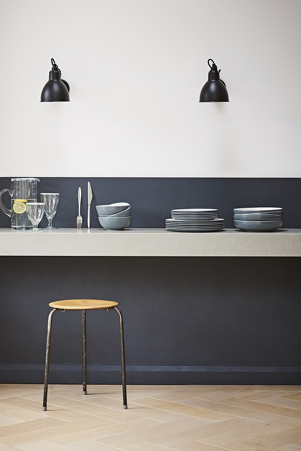 The smart black, white and grey ceramics are perfect for a modern, urban kitchen, but the oak touches, warm the collection up. And the enamel and aged aluminium items add a slightly industrial vibe