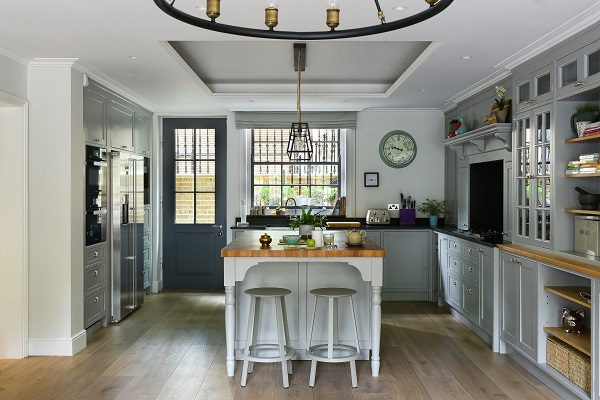 The open-plan kitchen/living room in a Regency House conversion