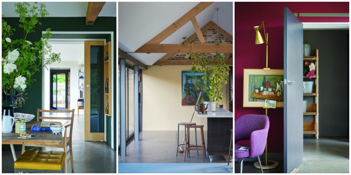 Key paint colours for spring - dark and dramatic or calm and timeless