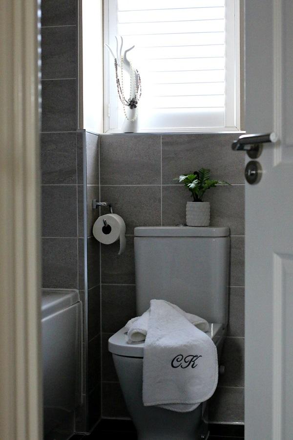 plantation shutters in the bathroom