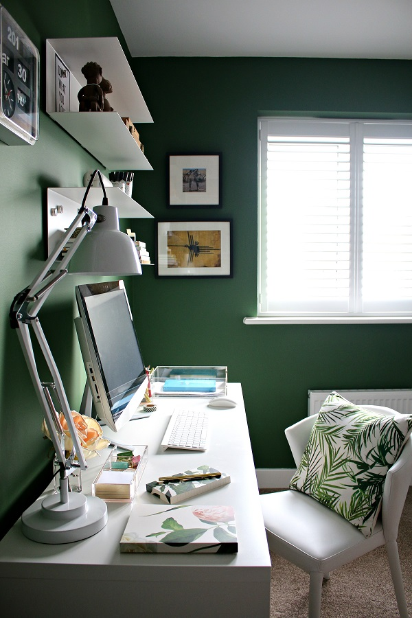 plantation shutters in the office