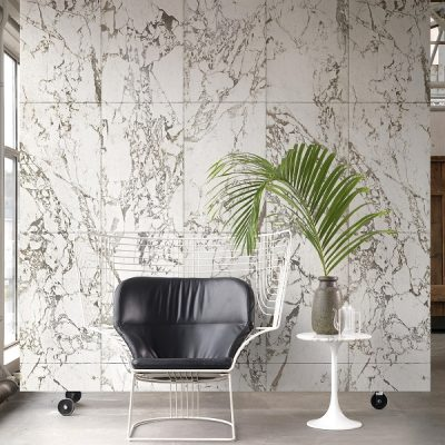 White marble wallpaper - a touch of minimal luxury