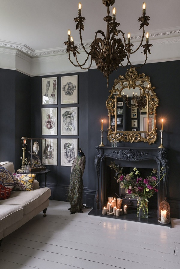 Fireplace ideas - paint surround the same colour as the wall