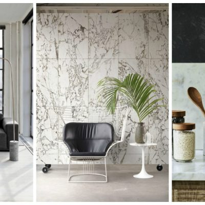white marble trend in the home