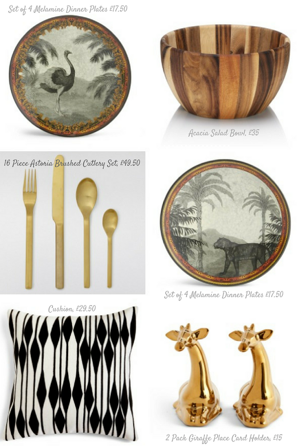 The Safari Collection of Melamine Tableware