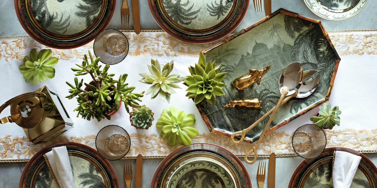 The Safari Collection of Melamine Plates