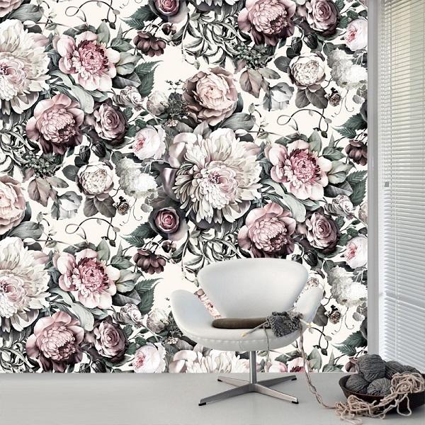 Dark Floral II Light Wallpaper from Ellie Cashman