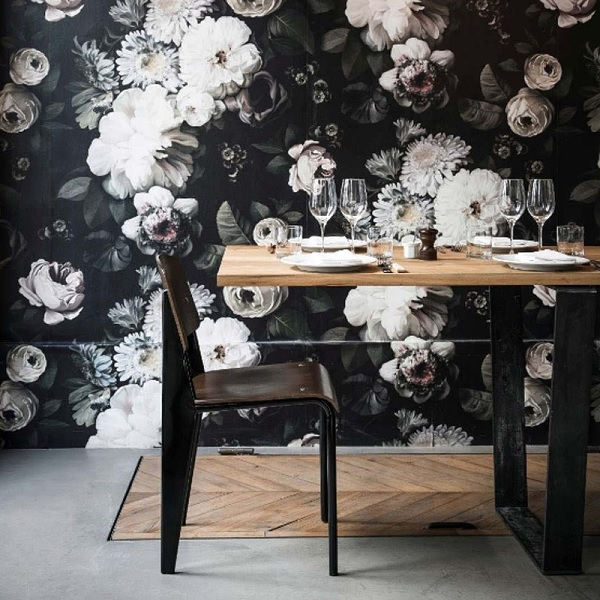 Dark Floral Wallpaper from Ellie Cashman