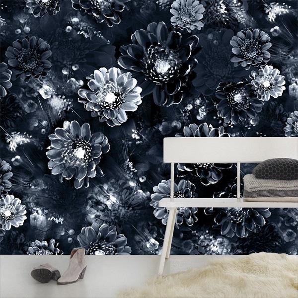Moonlight Meadow Black Wallpaper from Ellie Cashman
