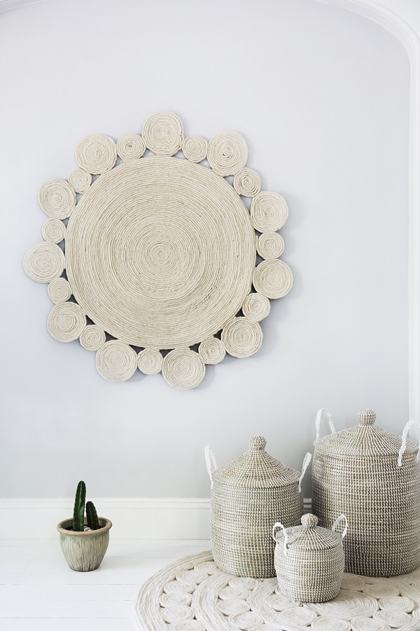 baskets and rugs that are not just for the nursery