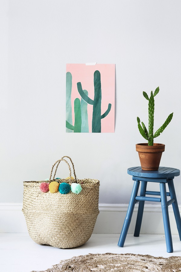 stools, baskets and artwork that are not just for the nursery