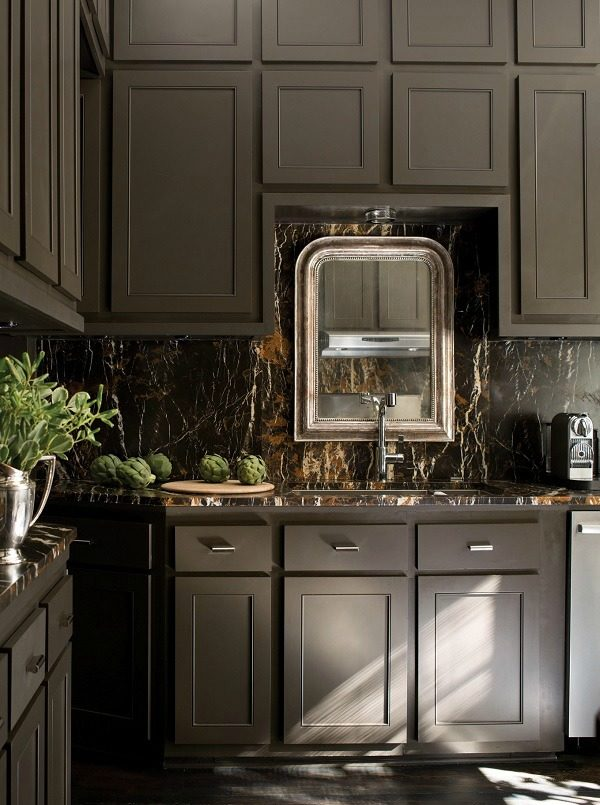 Paint a Kitchen in dark colours to create a sense of luxury