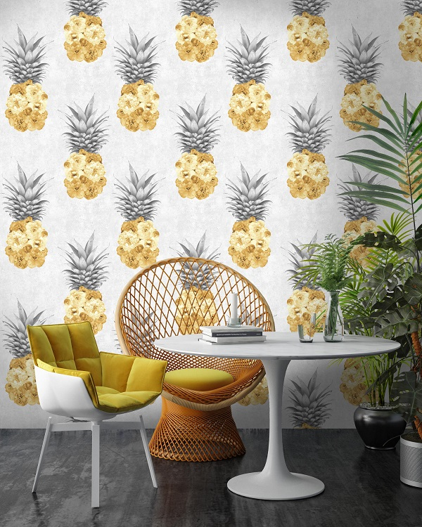 using yellow in home decor - large scale patterns in yellow benefit from lots of white