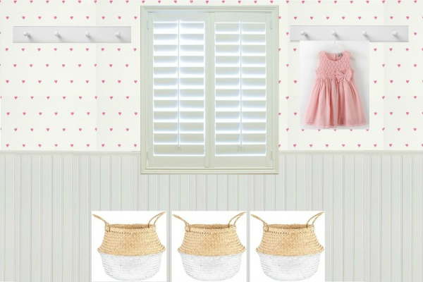 A country cottage scheme for a little girls bedroom